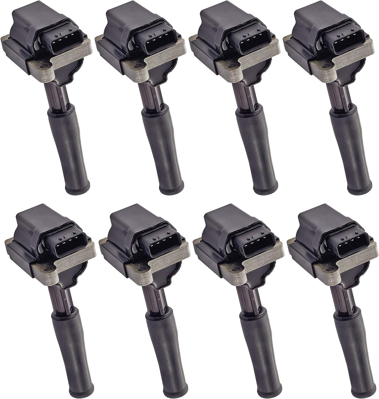 ENA Set of 2021 8 Ignition Coil Compatible with Pack Pl Quality inspection Vanden Jaguar