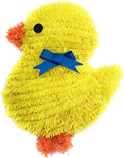Brite Star Easter Tinsel Frame, Small Chick with Ribbon, Yellow