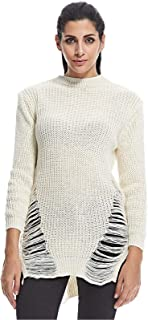 Diva London Round Neck Pullover Top For Women