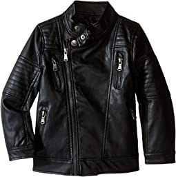 Faux Leather Moto Jacket (Little Kids)