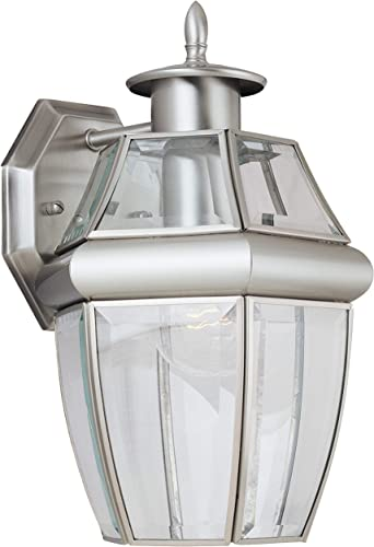 high quality Sea Gull Lighting 8038-965 Lancaster Outdoor Wall new arrival Lantern Outside Fixture, One - wholesale Light, Antique Brushed Nickel online sale