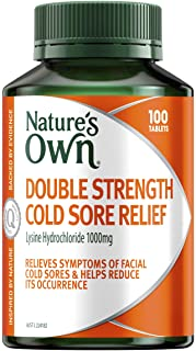 Nature's Own Double Strength Cold Sore Relief - Relieves Symptoms and Helps Reduce Occurrence of Facial Cold Sores, 100 Ta...