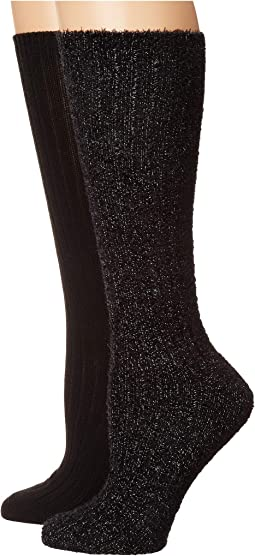 2-Pack Slouchy Feather Boot Socks