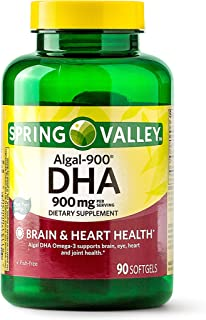 Spring Valley Algal-900 DHA Softgels, 900 mg, 90 Ct