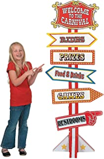 Fun Express - Big Top Directional Sign - Party Decor - Large Decor - Floor Stand Ups - 1 Piece