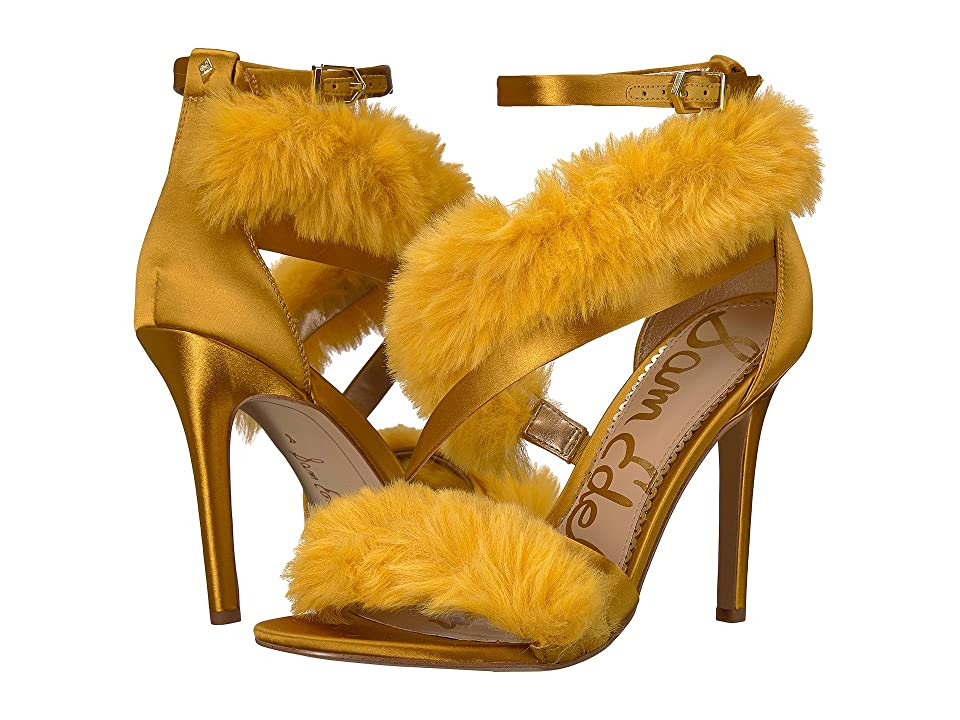 Sam Edelman Adelle (Tuscan Yellow Crystal Satin/Plush Fur) Women