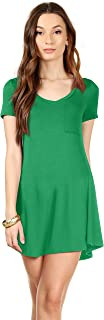 T Shirt Dress for Women Mini Dress Summer Tunic Top - USA