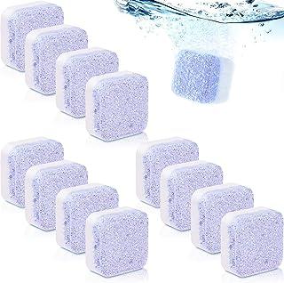 12 Piezas de Limpiador de Lavadora Sólido de Ambientador de Lavanda Tableta Efervescente más Limpia Lavadora de Limpieza Profunda Triple Removedor de Descontaminación para Baño Sala Cocina