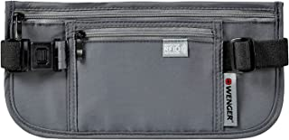 Wenger 604588 Waist Belt with RFID Protection Pocket, Grey, 13 Centimeters