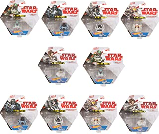 Hot Wheels Starship Set of 10 Hot Wheels Star Wars Battle Rollers Starship Die Cast Vehicles Character Collectible Action Toy Figures (Assortment A), Mutli