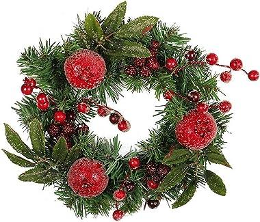 Deco Noël Exterieur Guirlande de Noël pin créatif de Grenade cônes Couronne de Noël Suspendus décoration de Noël (Farbe : 1)