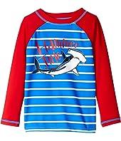 Hammerhead Shark Long Sleeve Rashguard (Toddler/Little Kids/Big Kids)