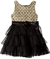 Nanette Lepore Kids - Lurex Tweed Bodice with Layered Tulle Bottom (Infant)