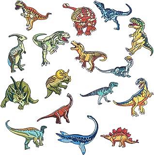 Dinosauri Toppe Applique toppe da stirare sui bambini per tasche jeans t-shirt Toppe termoadesive Patch Decorative 10 pezzi Toppe Dinosauro toppe ricamate per toppe
