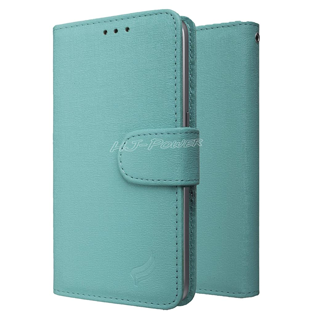 HJ Power[TM] Leather PU Wallet Pouch is Compatible with BLU G9 (Unlocked)- Teal