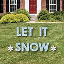 Big Dot of Happiness Winter Wonderland - Yard Sign Outdoor Lawn Decorations - Snowflake Holiday Party and Winter Wedding Yard Signs - Let It Snow