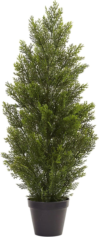 Nearly Natural 3' Mini Indoor Tree Super sale Outdoor Pine Colorado Springs Mall Cedar 3'