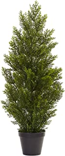 Nearly Natural Mini Cedar Pine Indoor/Outdoor Tree, 3'
