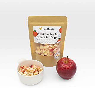 Heed Foods Freeze-Dried, Human-Grade, Probiotic Apple Treats for Dogs