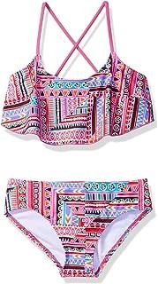 Kanu Surf Girls' Karlie Flounce Bikini Beach Sport 2-Piece Swimsuit