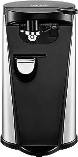ONVAYA - Abrelatas eléctrico de acero inoxidable, 3 funciones, abridor de botellas, afilador de cuchillos, abridor de tapas