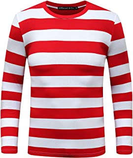 Sponsored Ad - OThread & Co. Men's Long Sleeve Striped T-Shirt Basic Crew Neck Shirts
