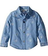 Stella McCartney Kids - Melvil Embroidered Skull Chambray Shirt (Infant)