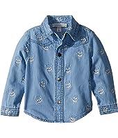 Stella McCartney Kids - Melvil Embroidered Skull Chambray Shirt (Infant)