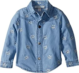 Melvil Embroidered Skull Chambray Shirt (Infant)