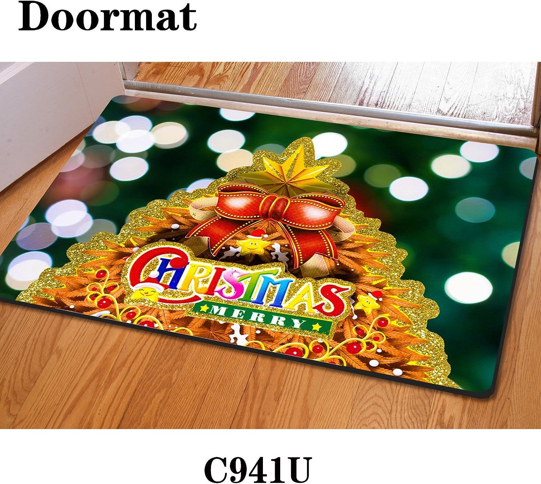 Christmas mats rectangular 40  60cm rubber mats bedroom mats kitchen mats , c941 , 4060cm