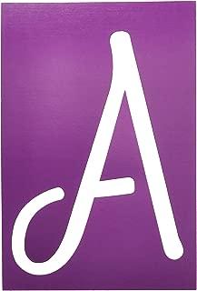 SB6-C//15931 6-Inch Characters Westcott LetterCraft Stencil Brush Font