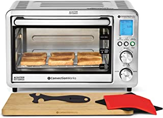 Convection Toaster Oven All-In-One 6-slice Compact Countertop Set w/ Bamboo Cutting Board (Incl: Rotisserie Spit & Rods, 2...