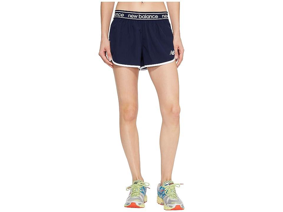 New Balance Accelerate 2.5 Shorts (Pigment/White) Women
