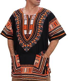 RaanPahMuang Unisex Bright Africa Black Dashiki Cotton Plus Size Shirt