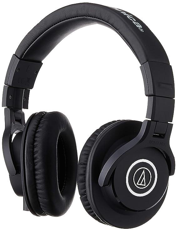 Audio Technica ATH M40X Professional Studio Monitor Over ear Headphones  Black