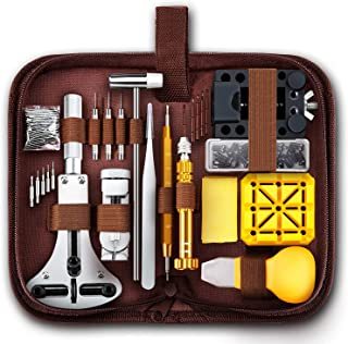 PIONEERS Watch Repair Tools Kits, Upgraded Version 149pcs Watches Battery Replacement Watchband Link Remover Spring Bar To...