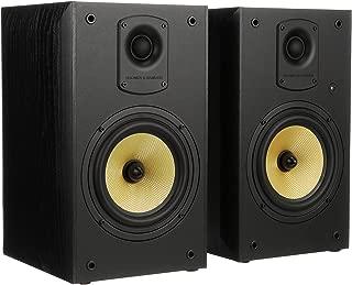 Thonet & Vander Kugel 2.0 700W Wood Bookshelf Speakers with Bluetooth Compatibility Plus Wireless Remote Control, 9.4 x 8.7 x 14