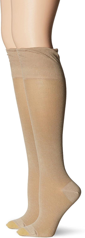 Gold Toe Women's Non-Binding Knee High Sock 2-Pack