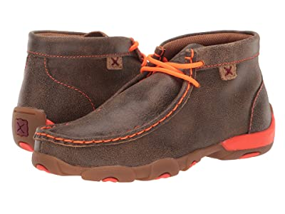 Twisted X Driving Moc (Little Kid/Big Kid) (Bomber/Neon Orange) Shoes