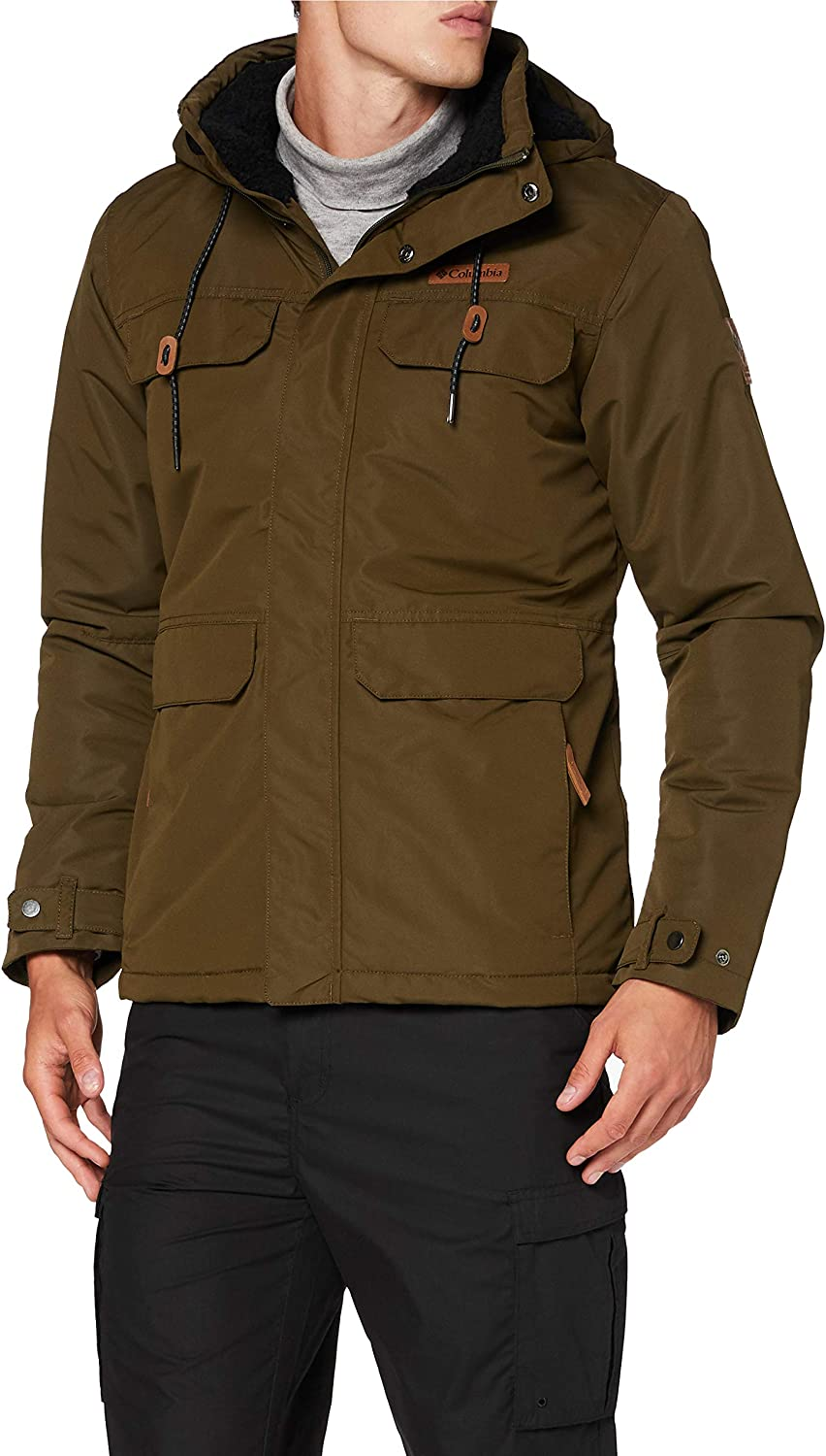 Men's Columbia SOUTH CANYON LINED Jacket-Olive Green Medium