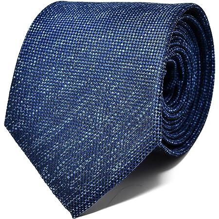 Oxford Collection Corbata de hombre Azul Oscuro - 100% Seda - Clásica, Elegante y Moderna - (ideal para un regalo, una boda, con un traje, en la ...