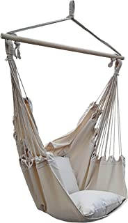 Poliestere 100/% 100 cm Greenstell Sedia Sospesa Grande Amaca Caraibica con Kit di Sospensione e Cinturino da 150 cm Sedia a Dondolo Confortevole Resistente