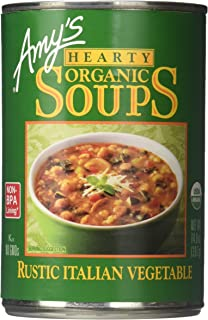 Amy's Kitchen Hearty Rustic Italian Vegetable Soup, 14.0-Ounce Cans (Pack of 12) (Value Bulk Multi-pack)