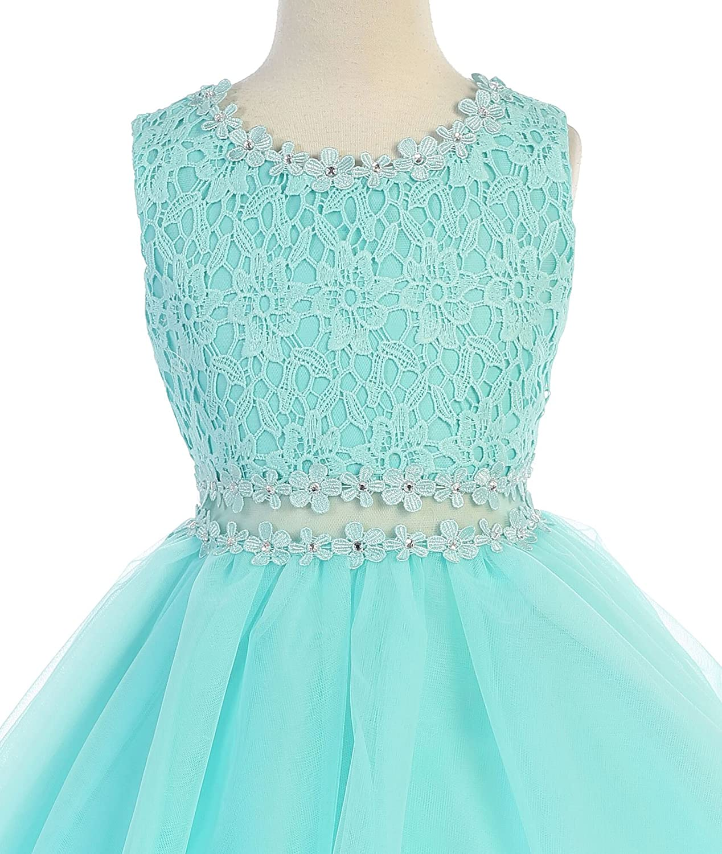 iGirlDress Girls Lace Tulle Layers Junior Bridesmaid Flower Girl Dresses 2-20