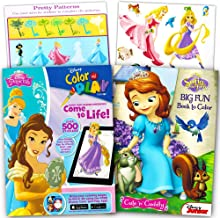 Disney Princess Ultimate Coloring Book and Sticker Set -- 2 Books with Over 500 Disney Princess Stickers (Books Feature Cinderella, Snow White, Ariel, Sofia the First and More!)