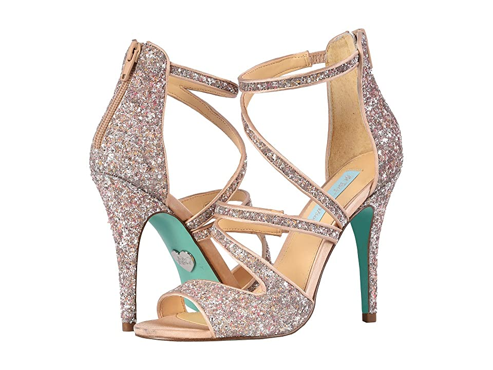 Blue by Betsey Johnson Izzy (Nude Glitter) High Heels