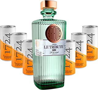 Gin Tonic Set - Le Tribute Gin 0,7l 43% Vol  6x 1724 Tonic Water Dosen 200ml inkl. Pfand EINWEG -Enthält Sulfite