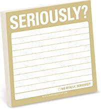 1-Count Knock Knock Seriously? Sticky Notes, Office Memo Sticky Notepad, 3 x 3-inches each