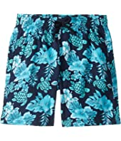 Vilebrequin Kids - Jirise Turtles Flowers Superflex Swim Trunk (Toddler/Little Kids/Big Kids)