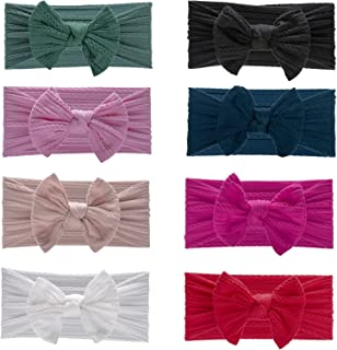 Nylon Baby Girl Bows and Headbands for Newborn Infant Toddler Kids Handmade Hair Accessories